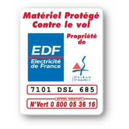 custom security tag edf logo reference en