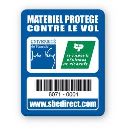 blue security tag jules vernes picardie unerviersity logo barcode en