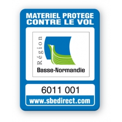 blue security tag basse normandie logo reference en