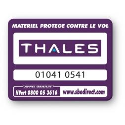 marquage antivol vioelette thales logo reference
