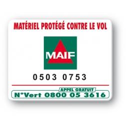 marquage antivol sbe logo maif reference