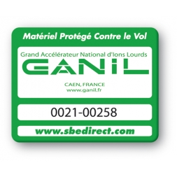 green security tag with ganil logo reference en