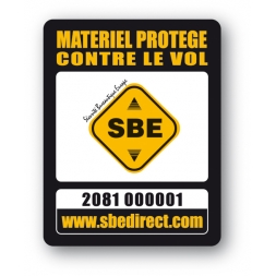 Plaque Inviolable antivol SBE standard