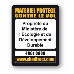 marquage antivol personnalisee ministere ecologie developpement