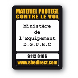 marquage antivol personnalisee ministere equipement reference
