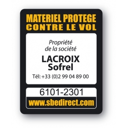 sbe laptop security tag printed lacroix sofrel en