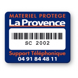 plaque inviolable logo la provence codebarre