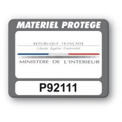 Plaque Inviolable SBE impression couleur