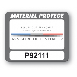 custom strong tamper proof asset tag ministere interieure reference en