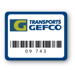 plaque inviolable personnalisee transports gefco codebarre