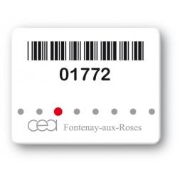 custom strong tamperproof asset tag cea logo barcode en