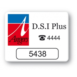 custom strong tamperproof asset tag angers dsi plus logo en