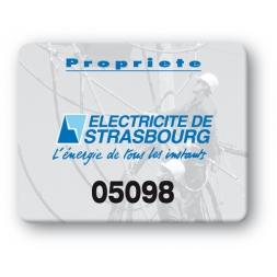 custom strong tamperproof asset tag electricite strasbourg logo en