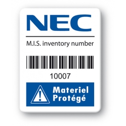 custom strong tamper proof asset tag nec barcode en