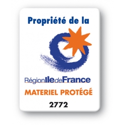 custom strong tamper proof asset tag region ile de france logo en