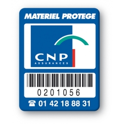custom strong tamper proof asset tag cnp logo barcode en