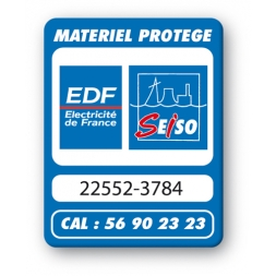 custom strong tamper proof asset tag edf logo en