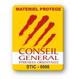 custom strong tamper proof asset tag conseil general logo en