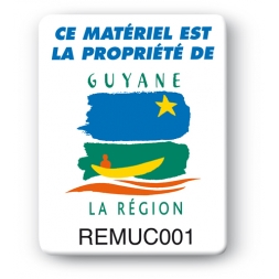 custom strong tamper proof asset tag region guyane logo en