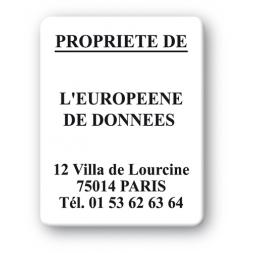 black print custom strong tamper proof asset tag europeene de donnees en