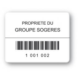 black print custom strong tamper proof asset tag groupe sogeres barcode en