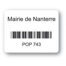 black print custom strong tamper proof asset tag mairie nanterre barcode en