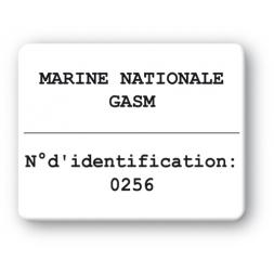 black print custom strong tamper proof asset tag marine nationale gasm en