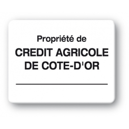 plaque inviolable impression noire personnalisee credit agricole cote d or