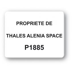 black print strong tamper proof asset tag thales alenia space en