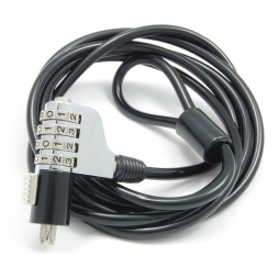 5 mm laptop security cable with combination en