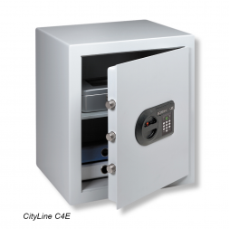 grey cityline personal safe with electronic lock en