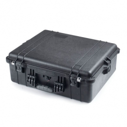 valise de transport amenagee noire fermee