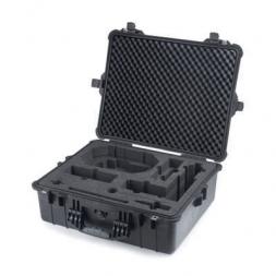 valise de protection amenagee noire ouverte