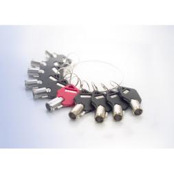 La clé passe supplémentaire pour câble antivol portable double-tête Safe-Tech®