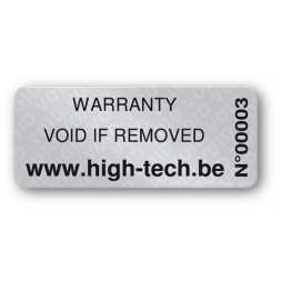 custom anti fraud polyester black print void label en
