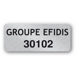 custom anti fraud polyester black print void label groupe efidis en