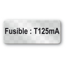 custom anti fraud polyester black print void label fusible en