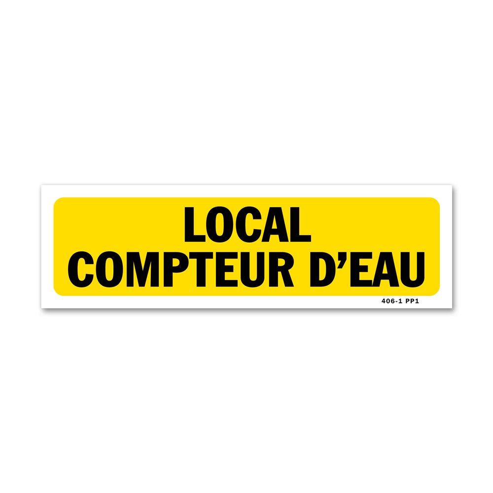 """Panneau indication """"local compteur d'eau"""""""