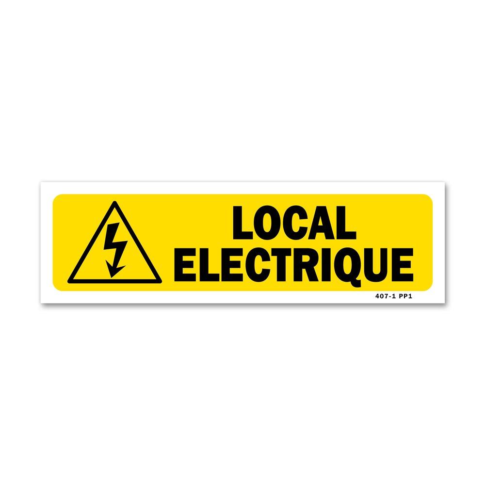 """Panneau indication """"local électrique"""""""