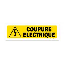 """Panneau indication """"coupure électrique"""""""