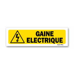 """Panneau indication """"gaine électrique"""""""