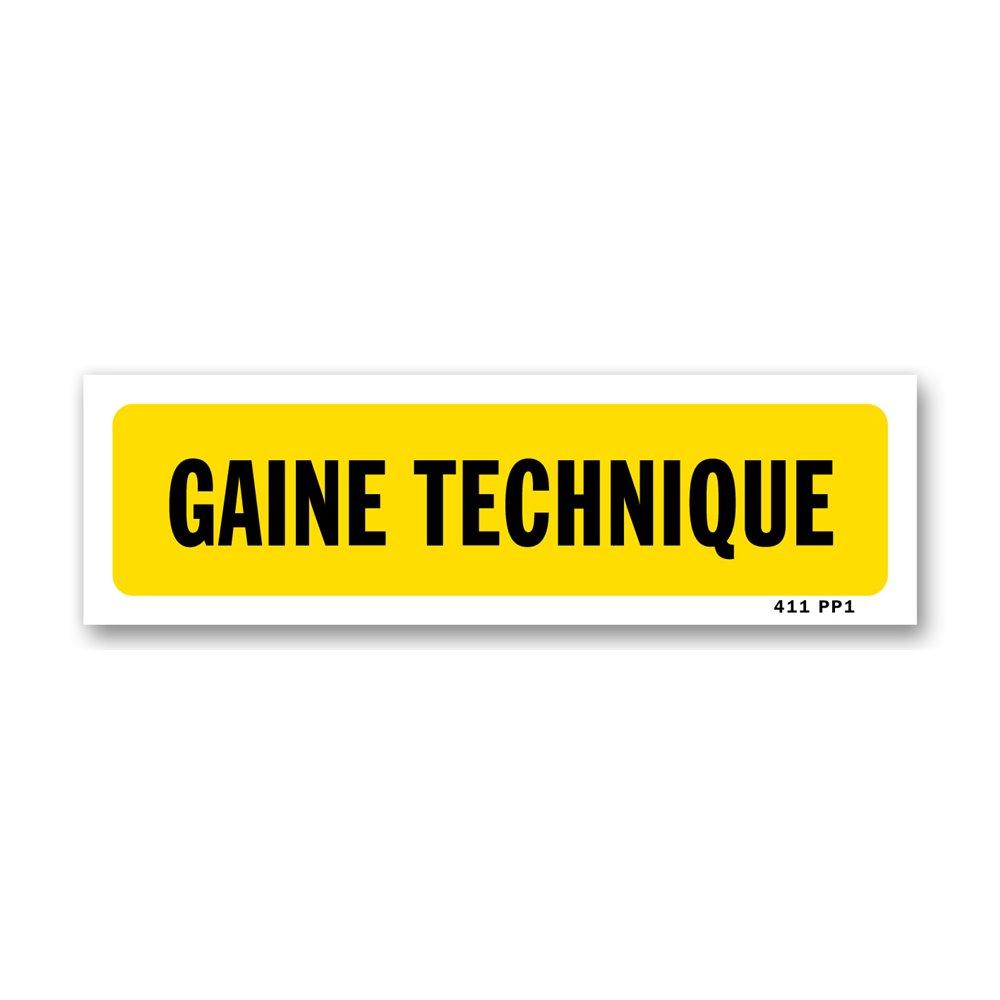 """Panneau indication """"gaine technique"""""""