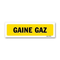 "Panneau indication ""gaine gaz"""