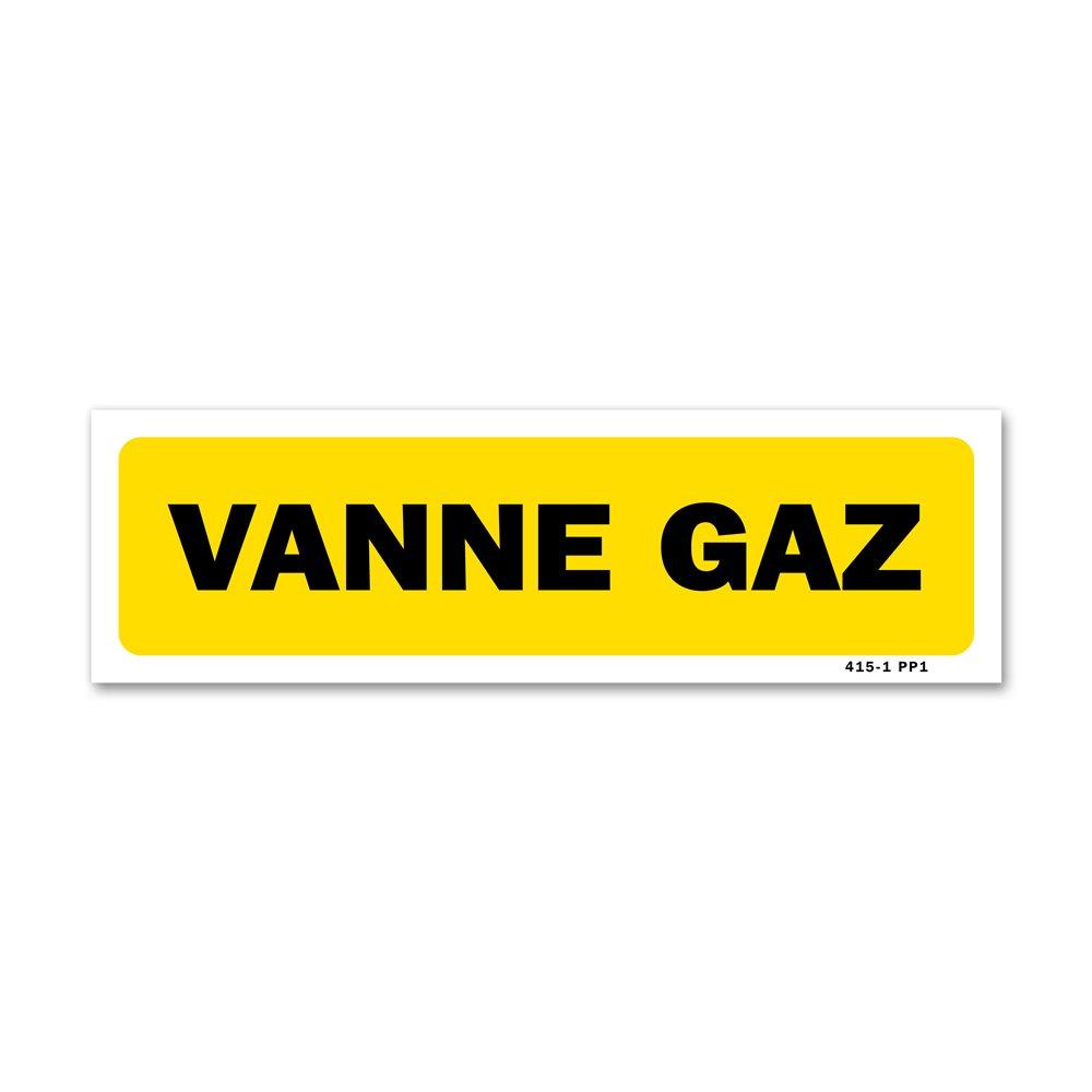 """Panneau indication """"vanne gaz"""""""