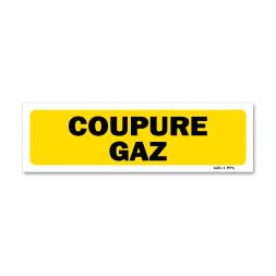 """Panneau indication """"coupure gaz"""""""