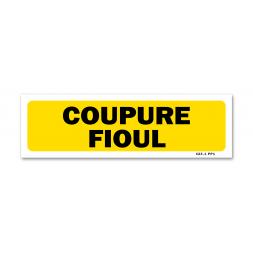 """Panneau indication """"coupure fioul"""""""