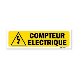 """Panneau indication """"compteur électrique"""""""