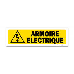 """Panneau indication """"armoire électrique"""""""