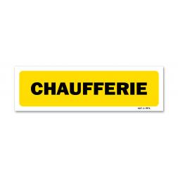 "Panneau indication ""chaufferie"""