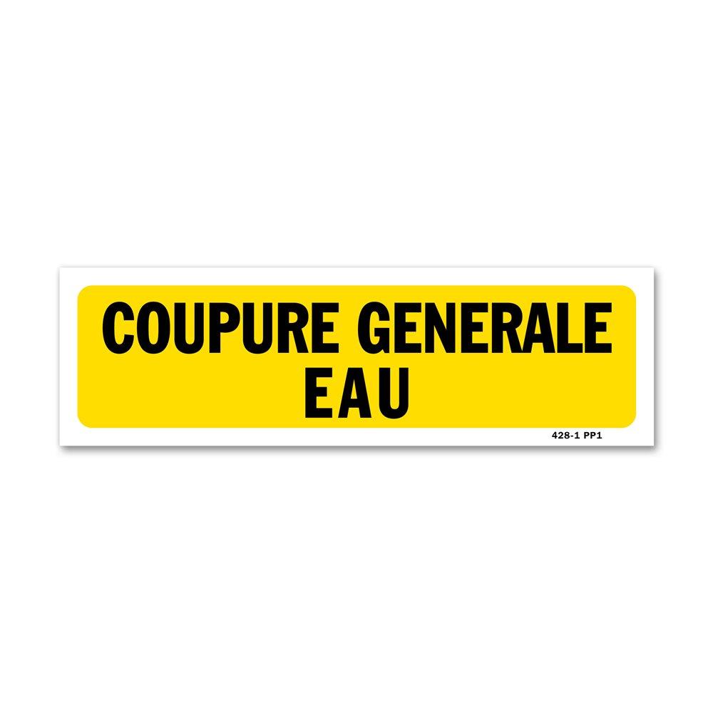 """Panneau indication """"coupure générale eau"""""""